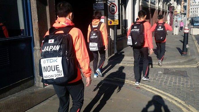 【2017世界陸上:第3日目】男子マラソンのみんなが会場に向かう
