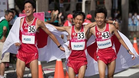 第29回ユニバーシアード(台北) 男子ハーフマラソン1,2,3!