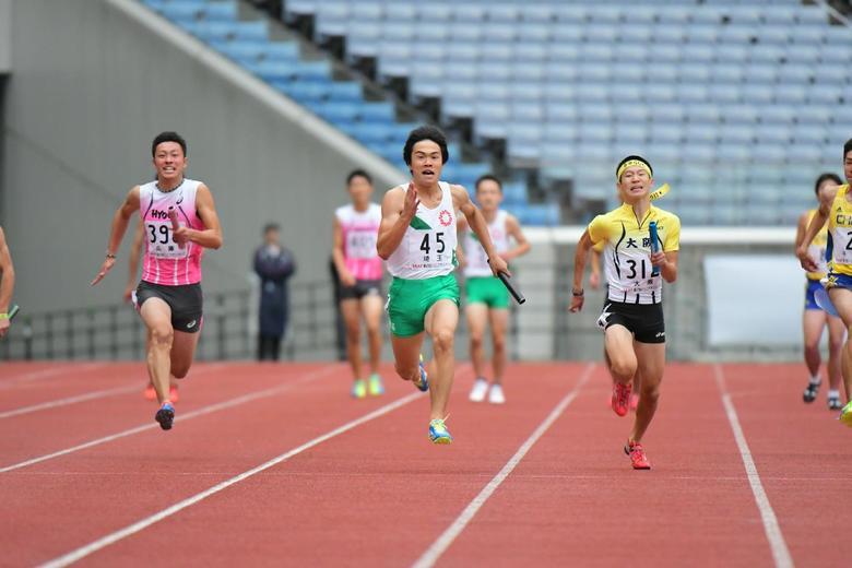 前大会(第47回ジュニアオリンピック)ABC男子共有4×100mR:日本 ...