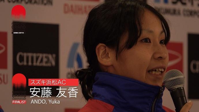 【MGCシリーズ】安藤友香選手 レース後会見映像/大阪国際女子マラソン