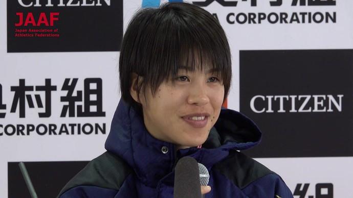 【記者会見】小原怜、大阪国際女子マラソン日本人トップ2位「やりきれなかった」