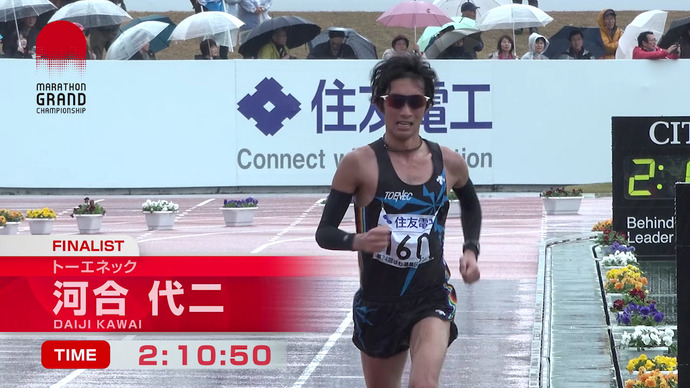 【MGC出場権獲得】河合代二(トーエネック)2時間10分50秒/第74回びわ湖毎日マラソン