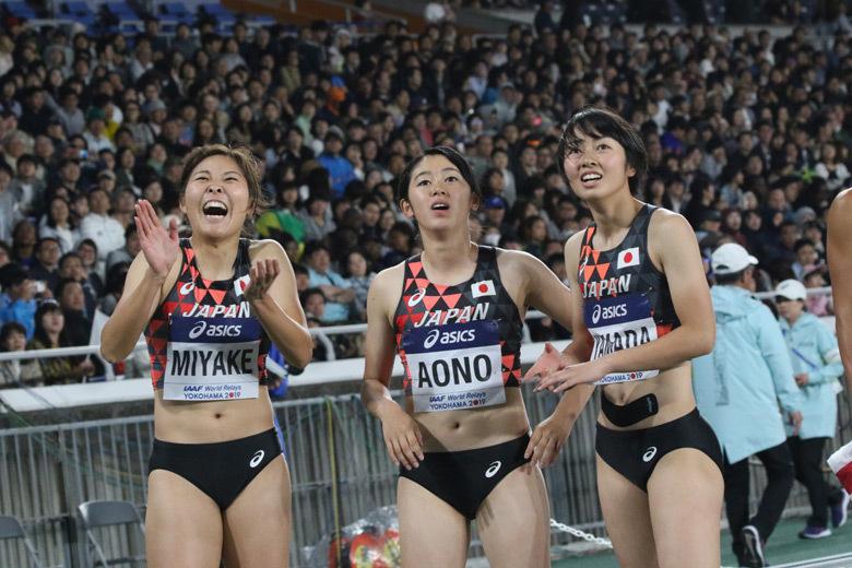 世界リレー横浜】女子4×200mリレー決勝:日本新に沸く日本チーム:日本 ...