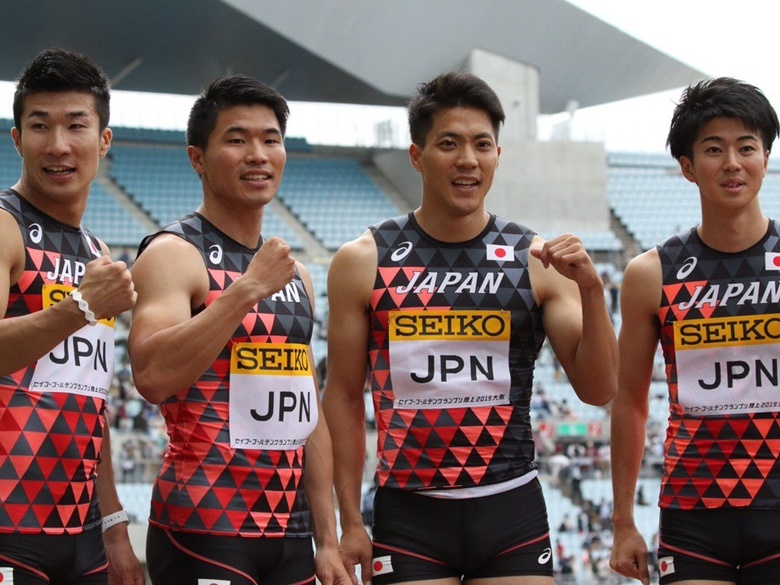 セイコーGGP】今季世界最高記録で優勝した男子4×100mリレー:日本陸上 ...