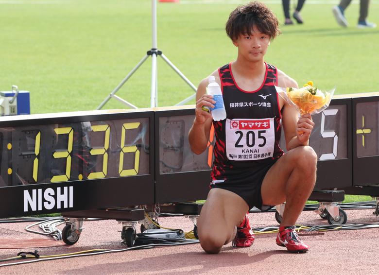 第102回日本選手権】男子110mH 1...