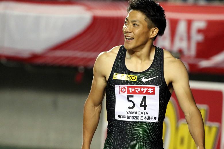 第102回日本選手権】男子100m 1...